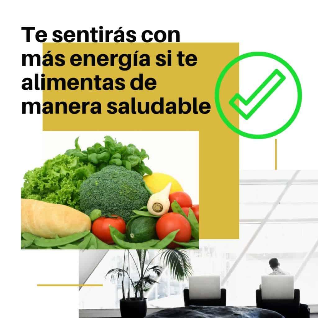 Alimentación saludable, más energía